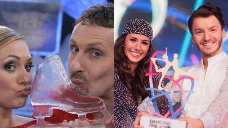 """Ruth Moschner und Sarah Lombardi haben 2006 und 2018 """"Dancing on Ice"""" gewonnen. (Foto)"""