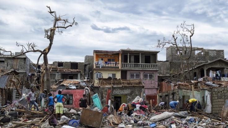 """Hurrikan """"Matthew"""" zerstörte im Oktober 2016 ganze Ortschaften auf Haiti. (Foto)"""