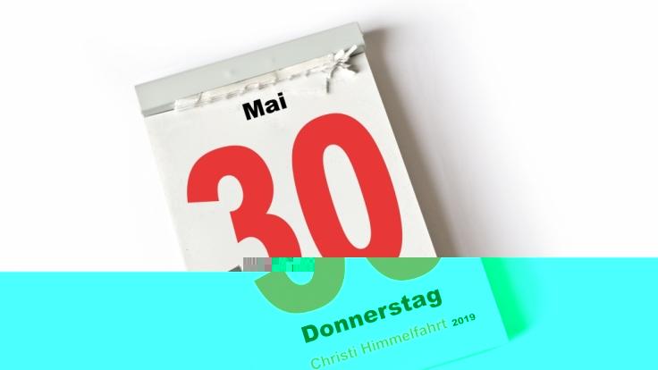 Der 30. Mai 2019, Christi Himmelfahrt, ist in Deutschland ein gesetzlicher Feiertag.