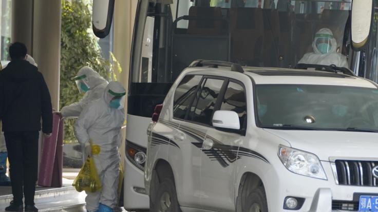 Die WHO-Experten beginnen ihre Nachforschungen in Wuhan. (Foto)