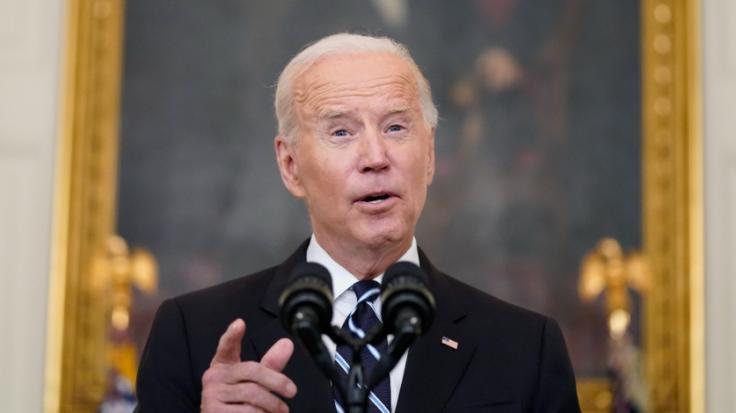 Für seinen Auftritt zum Labor Day erntete US-Präsident Joe Biden nicht nur Lob. (Foto)