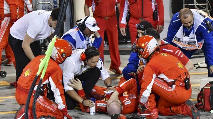 Beim Formel-1-Rennen in Bahrain kam es zu einem schweren Unfall.