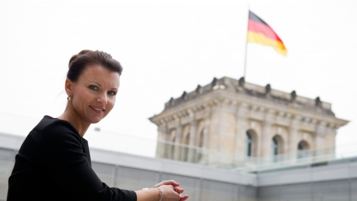 Jana Schimke wurde zur heißesten Politikerin gewählt.