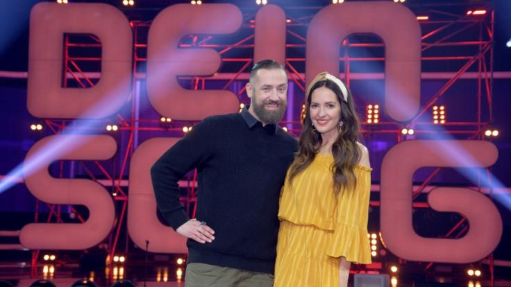 """Bürger Lars Dietrich und Johanna Klum beim Finale der KIKA Musikshow """"Dein Song"""". (Foto)"""