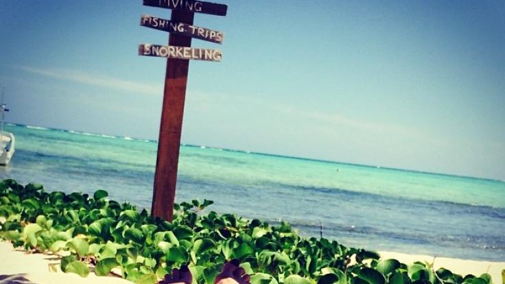 Heidi Klum: Ganz entspannt am Strand von Mexiko.