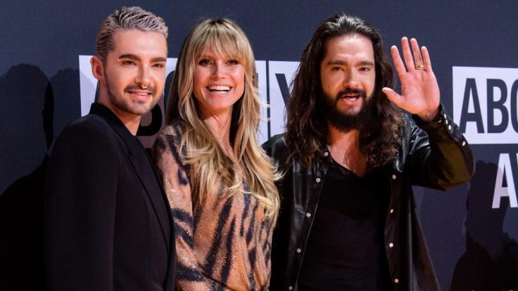 Fast unzertrennlich: Heidi Klum, Bill Kaulitz (l.) und Tom Kaulitz.