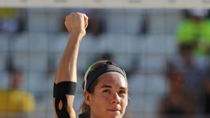 Beachvolleyballerin Kira Walkenhorst bei den Olympischen Spielen 2016 in Rio.