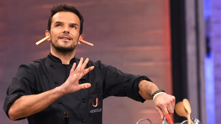 Steffen Henssler bei der Aufzeichnung der VOX Kochshow