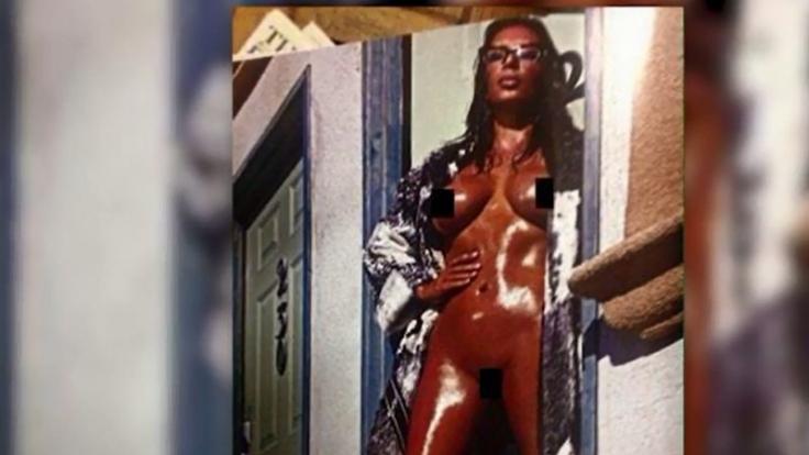 Kim Kardashian und Öl - eine scheinbar beliebte Kombination. (Foto)