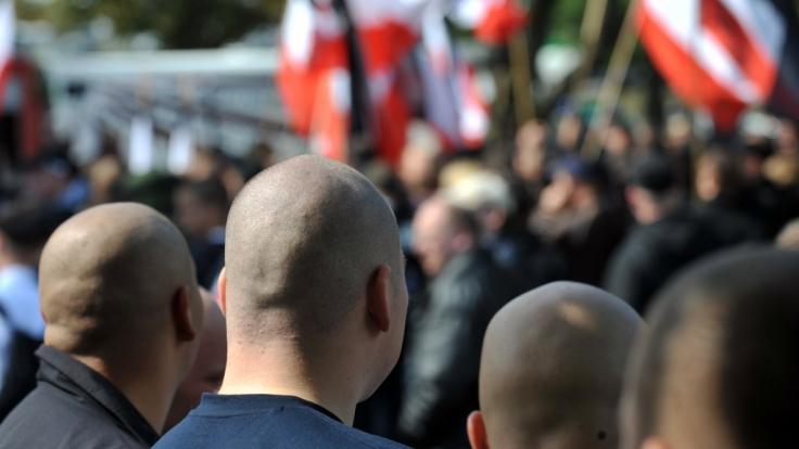 Straßenkampf statt Parteipolitik: Hier fühlen sich Anhänger von Die Rechte wohl. (Foto)