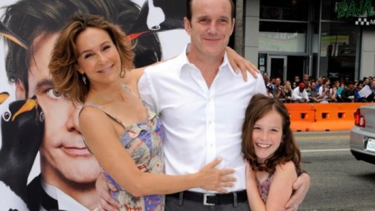 Jennifer Grey mit ihrem Mann Clark Gregg und Tochter Stella.