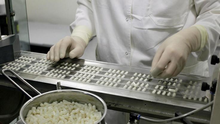 """Produktion des Herzmedikaments """"Mildronate®"""": Weil es den Wirkstoff Meldonium enthält, ist das Herzmedikament des lettischen Herstellers Grindeks 2016 von der WADA verboten worden. (Foto)"""