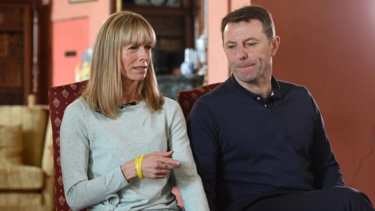 Kate und Gerry McCann bei einem Interview zum Verschwinden ihrer Tochter Madeleine.