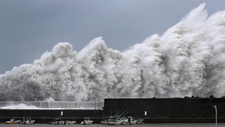 """Taifun """"Jebi"""" ist der stärkste Taifun seit rund 25 Jahren, der auf das japanische Archipel traf. (Foto)"""