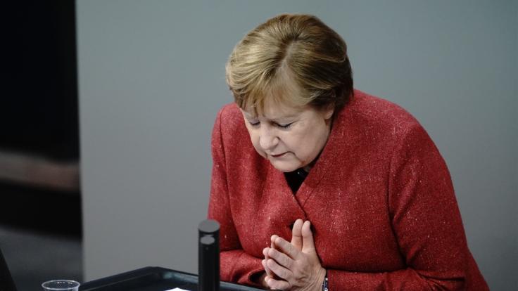 Bundeskanzlerin Angelas Merkel appelliert an die Bevölkerung. (Foto)
