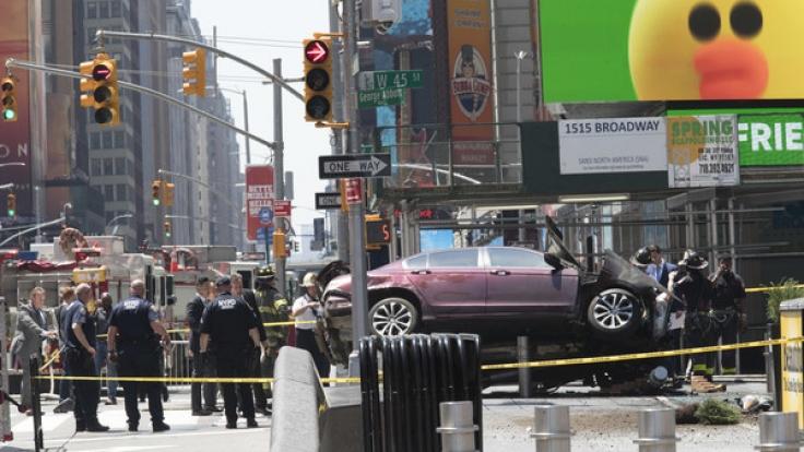 Ein Ex-Soldat raste auf dem Times Square in eine Menschenmenge.