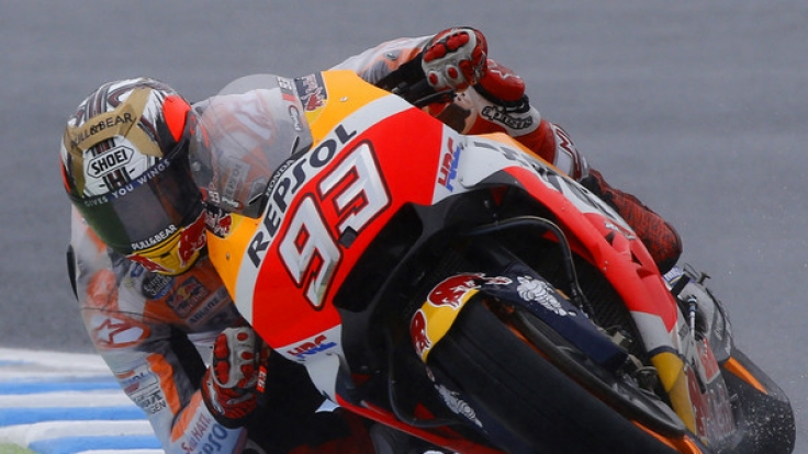 MotoGP: Grand Prix von Japan, Qualifying in Motegi (Japan). Der Spanier Marc Marquez in Aktion beim Freien Training.