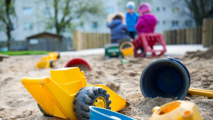 Eine Kindertagesstätte in Düsseldorf am 18. April 2016.