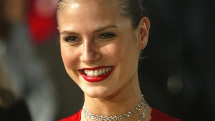 Bildschön und 29 Jahre jung: Heidi Klum auf dem roten Teppich.