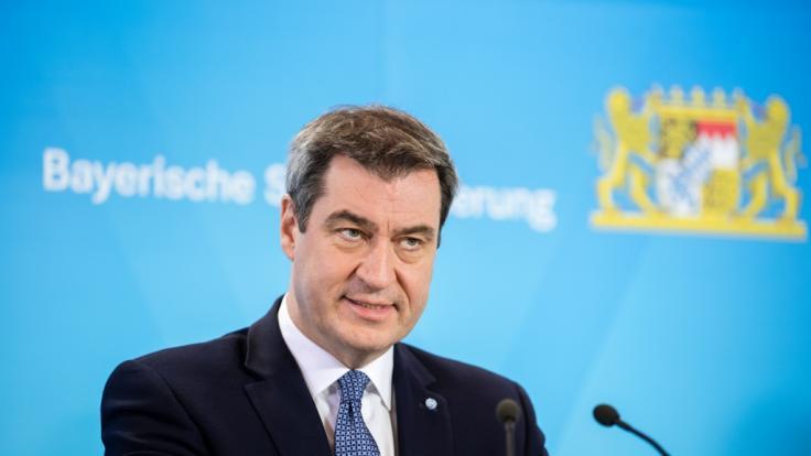 Markus Söder hält Regierungserklärung zu Coronakrise.