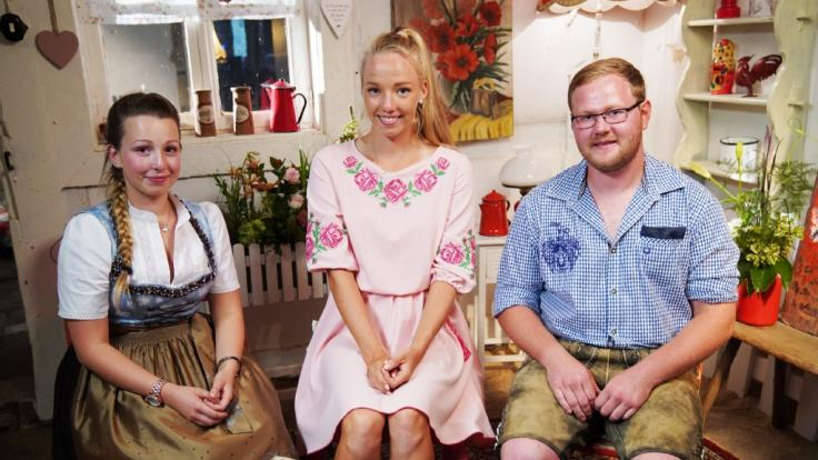 Tayisiya Morderger (m.) mit Jungbauer Matthias und KonkurrentinLaura Martina.