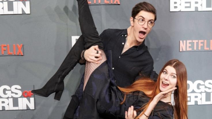 Das Model Klaudia Giez und ihr Freund Felipe. (Foto)