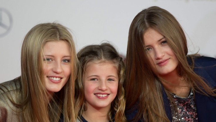 Til Schweigers Töchtern Luna, Emma und Lilli (vl.n.r.) sind inzwischen zu jungen Frauen herangewachsen. (Foto)