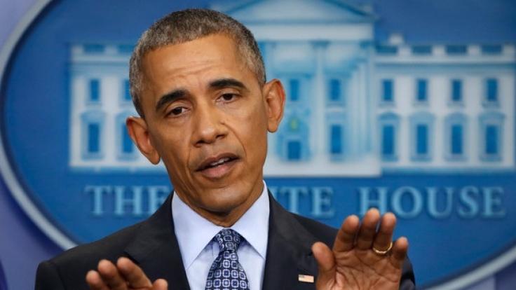 Barack Obama bei seiner letzten Pressekonferenz im Weißen Haus. (Foto)