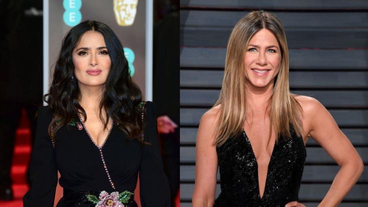 Salma Hayek gratulierte Jennifer Aniston mit einem sexy Throwback zum Geburtstag (Foto)