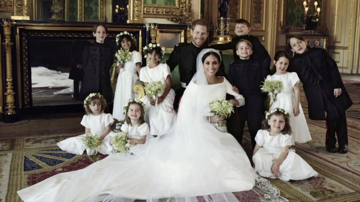 Dem frischvermählten Paar Meghan Markle und Prinz Harry scheint auf den offiziellen Hochzeitsfotos das Glück aus jeder Pore. (Foto)
