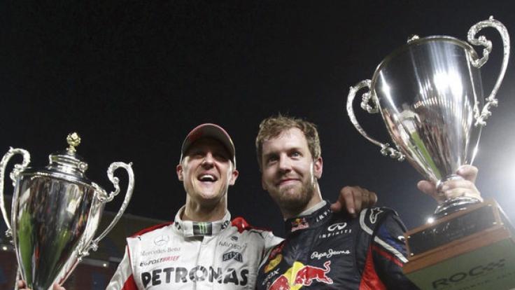 Brüder im Geiste: Schumi und Vettel sind sich in ihrem Wesen unglaublich ähnlich.