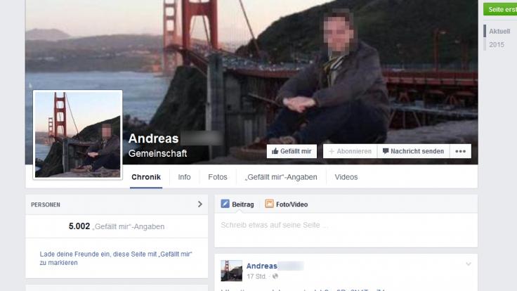 Das falsche Facebook-Profil von Andreas L. hat bereits mehr als 5000