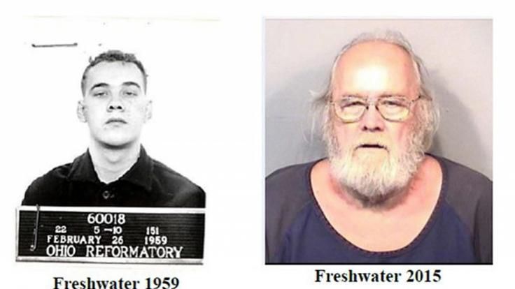 Frank Freshwater bei seiner ersten und seiner letzten Festnahme.