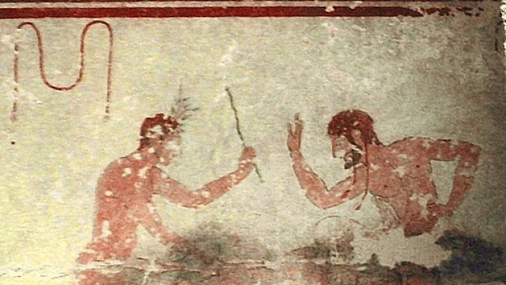 Sadomaso auf einem Grab 600 Jahre vor Christus. (Foto)