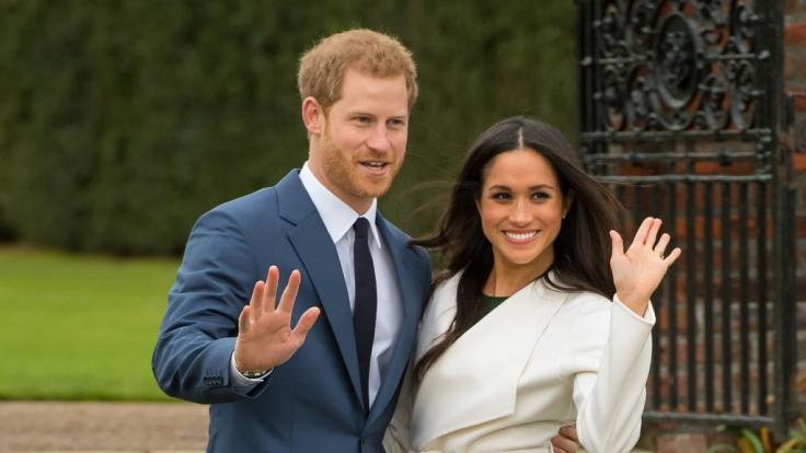Prinz Harry und Meghan Markle nach Bekanntgabe ihrer Verlobung.