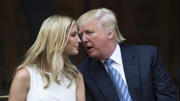 Immer an seiner Seite: Ivanka Trump ist die Sympathieträgerin im Kampf um die Präsidentschaft. (Foto)