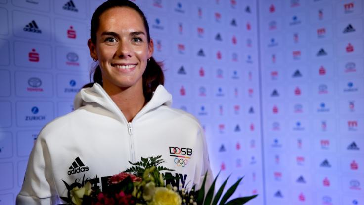 Beachvolleyball-Olympiasiegerin Kira Walkenhorst schwelgt privat im Mutterglück: Ihre Ehefrau Maria brachte Drillinge zur Welt. (Foto)